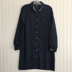 LAUREN Ralph Lauren navy linen dress SIZE PS